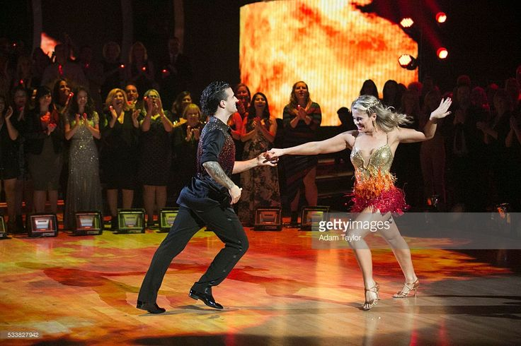 "STARS - 'Episodes 2210' - Mark Ballas and Paige VanZant salsa to ""Fireball"" by Pitbull - After weeks of stunning competitive dancing, the final three couples advance to the finals of 'Dancing with the Stars,' live, MONDAY, MAY 23 (8:00-9:01 p.m. EDT), on the ABC Television Network. MARK"