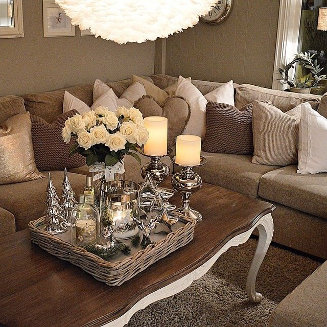 Moonshineeeeee Neutral Living RoomsLiving Room IdeasBrown Couch RoomApartment ChecklistTray