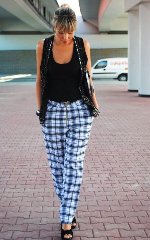 Spodnie w kratę Livia Clue