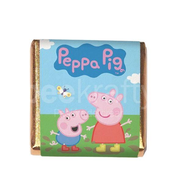 Minichocos de Peppa para regalar a los amiguitos de tu peque. Los diseñamos gratis para tus eventos más especiales. Consíguelos en www.beekrafty.com #beekrafty #pasionporcrear