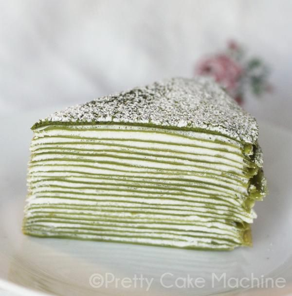 Recipe: 21-Layer Matcha Mille Crêpe. | Pretty Cake Machine