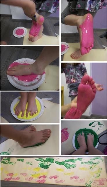 stempelen met de voeten
