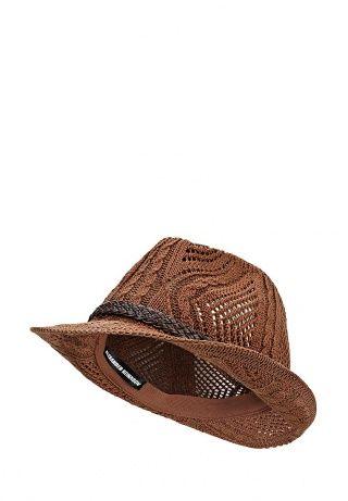 Шляпа ALEXANDER KONASOV коричневого цвета. Модель выполнена из узорного натурального хлопка. Детали: окантовка в виде плетеного ремешка. http://j.mp/1z81Uz4