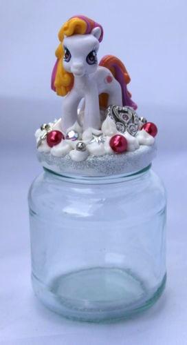 MY LITTLE PONY DECODEN KAWAII GLASS TRINKETT BOX JAR