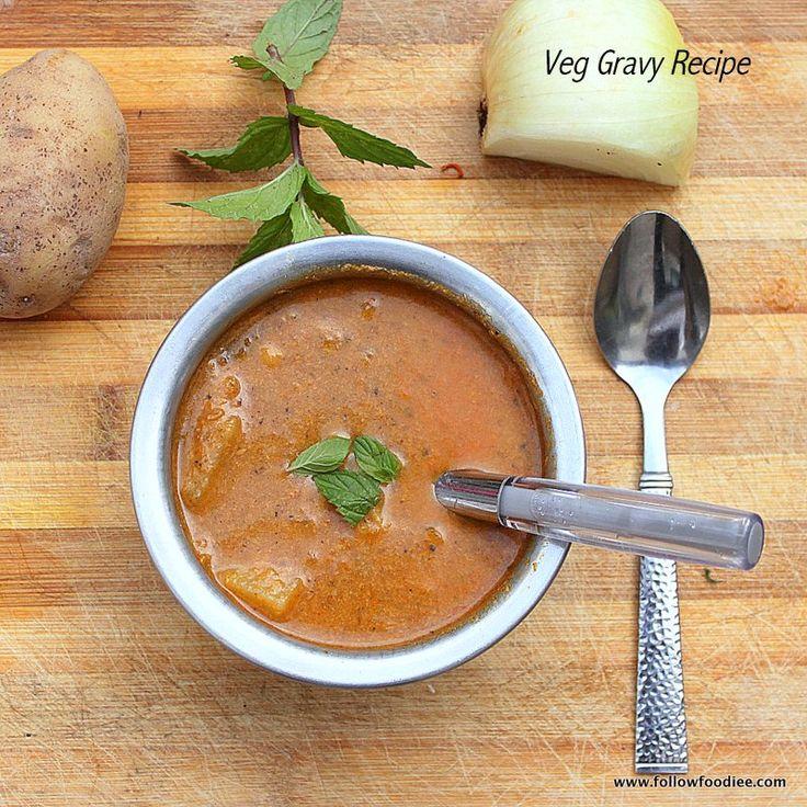 VEGETABLE SALNA RECIPE | HOW TO MAKE VEG SALNA ( CHALNA ) , VEGETABLE GRAVY RECIPE