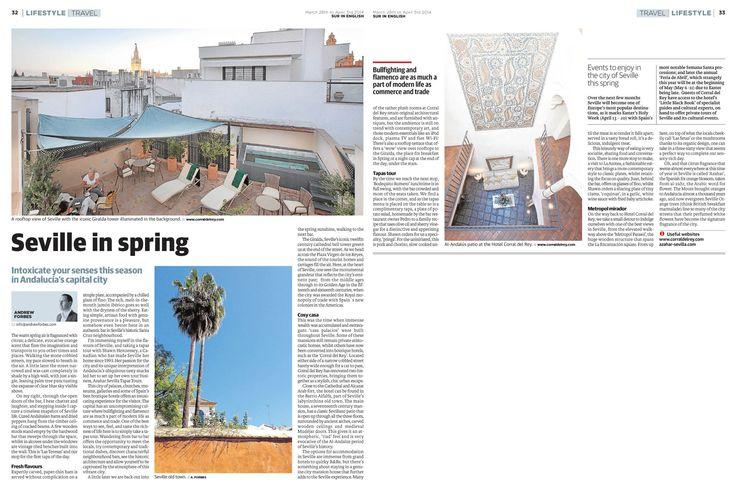Seville in Spring – Intoxicate your senses this season in Andalucía's capital - travel feature by Andrew Forbes www.andrewforbes.com #luxurytravelpursuits #luxestyletravel