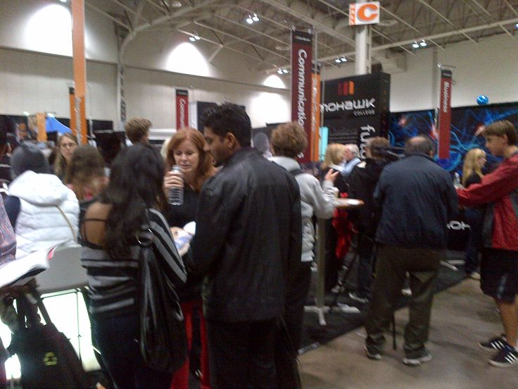 Ontario Colleges Information Fair - Toronto October 21 & 22 2013 (OCIF) photos - The Mohawk College booth is busy. Remember our Open Houses are happening over the next few weeks. Come by and see why Mohawk College is right for you! For more details http://www.mohawkcollege.ca/visit-tour/open-house.html