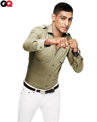 Amir Khan GQ May 2012 - How to Wear a Narrow Shirt Collar: Wear It Now: GQ