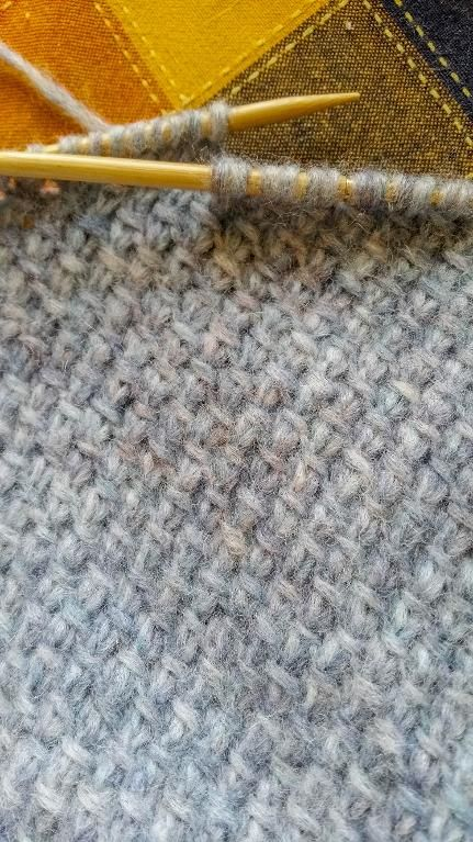 """A student's sample of knitting and purling backwards from Craftsy """"Improve Your Knitting: Alternative Methods and Styles"""""""