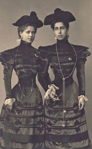 HRH Princess Marie of Edinburgh (1875-1938) (Queen of Romania) and HRH Princess Victoria Melita of Saxe-Coburg and Gotha (1876-1936) (Grand Duchess consort of Hesse and Grand Duchess Viktoria Feodorovna of Russia), daughters of Prince Alfred