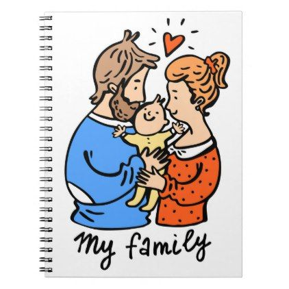 Mothers Day diary cartoon notebook - love gifts cyo personalize diy