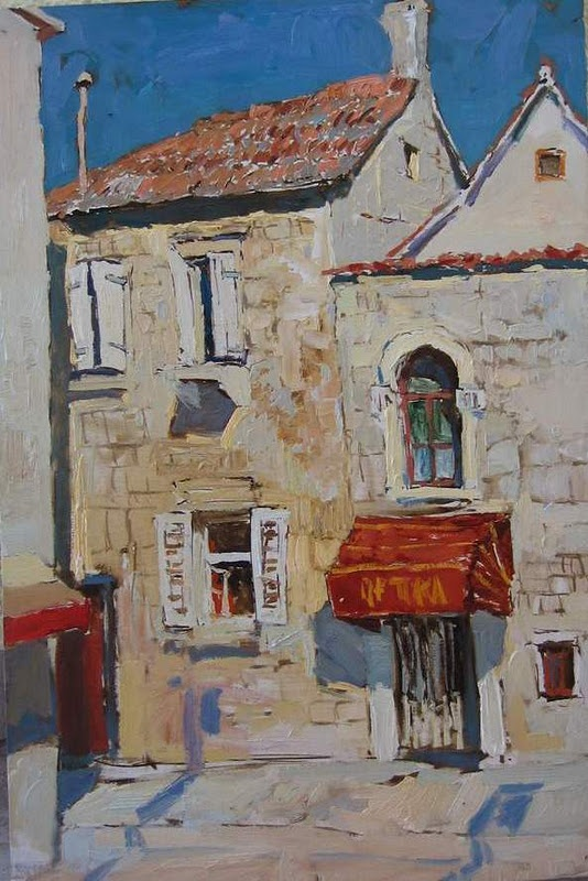۩۩ Painting the Town ۩۩  city, town, village & house art - artist unknown