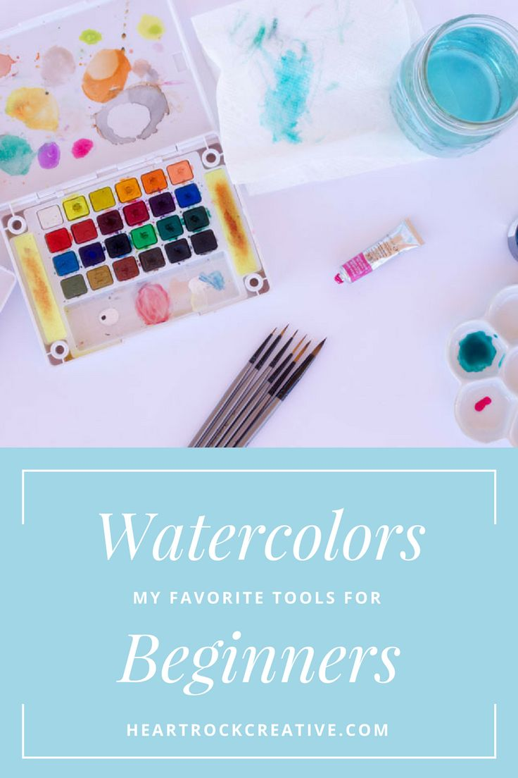 89 best art supplies images on pinterest for Watercolor supplies for beginners