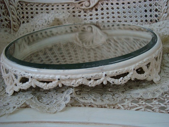 Items similar to Fabulous Vintage Large Shabby Plateau Mirror Tray Vanity  Tray With Swags and Garlands on Etsy - 9 Best Antique Plateau Mirror Images On Pinterest Mirrors