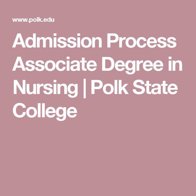 Admission Process Associate Degree in Nursing | Polk State College