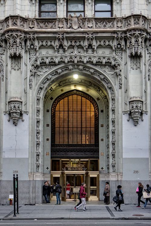 101 year old Woolworth Building, Neo Gothic