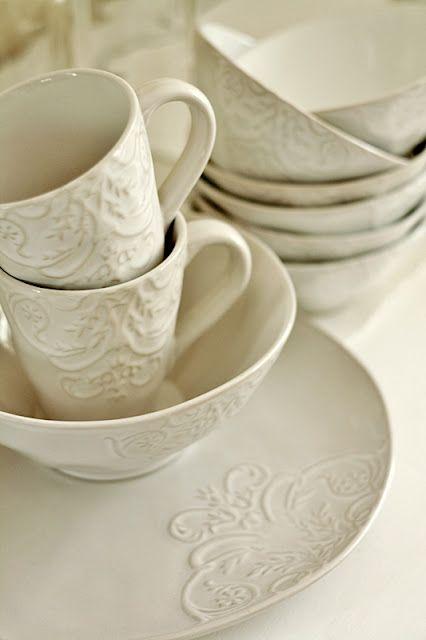Love White Dishes