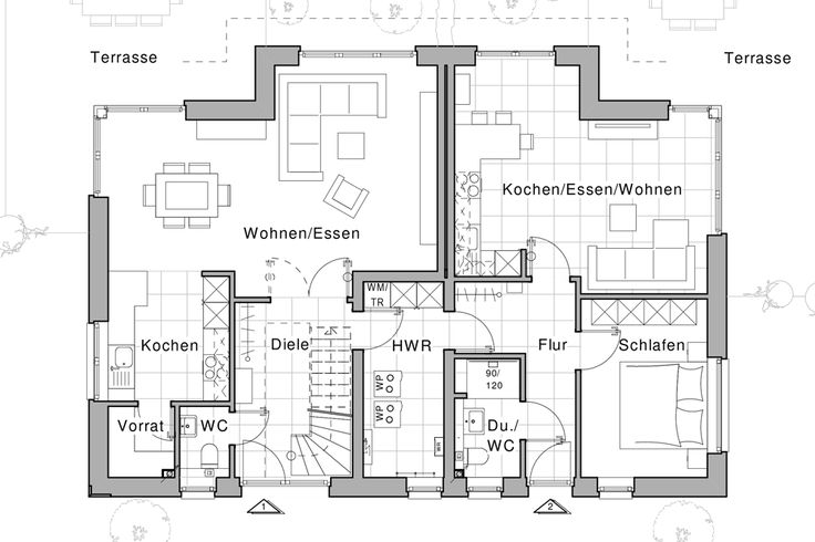 1147 best h user images on pinterest house floor plans for Zweifamilienhaus plan