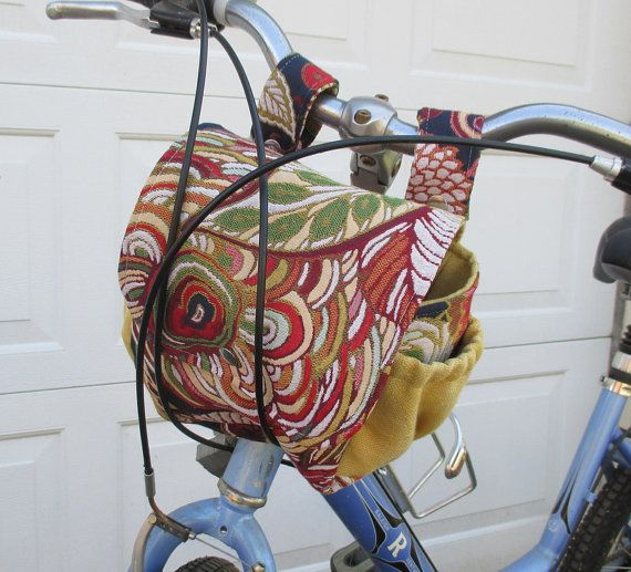 Ladies Bike Bag  Floral Bike Bag  Bicycle Bag by bungalowquilts                                                                                                                                                                                 More