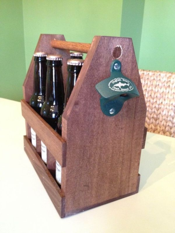 Homemade beer caddies. Great idea for a groomsmen gift by Banphrionsa