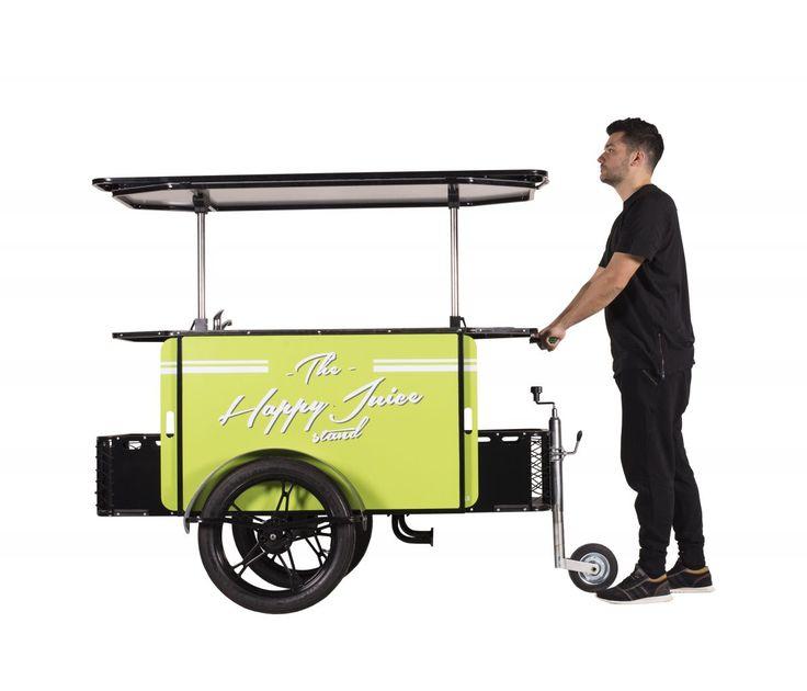 Our Juice Cart can be hauled as a push cart, too!    #JuiceCart #JuiceBike #VendingCart
