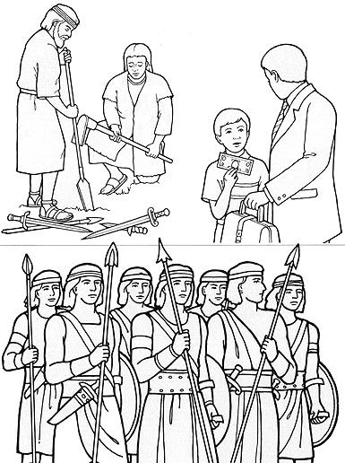 Army of Helaman coloring page/flannel-board figures