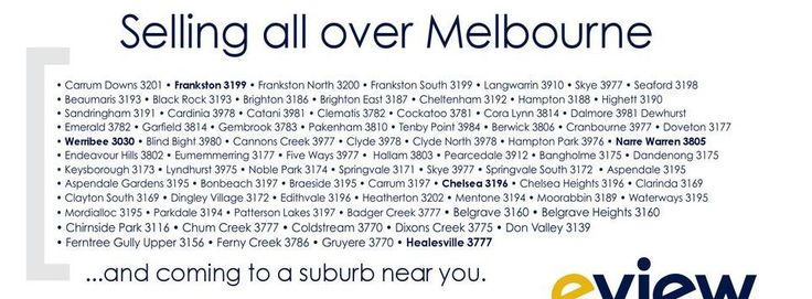 #Frankston, #Cheltenham, #Brighton, #Springvale, #Moorabbin, #FerntreeGully, #Keysborough, #Berwick... coming near you!