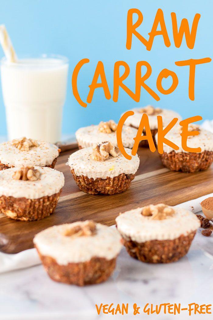 Raw Carrot Cake - vegan + gluten-free | glutenfreeveganpantry.com