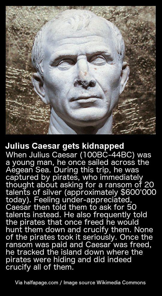 Julius Caesar gets kidnapped