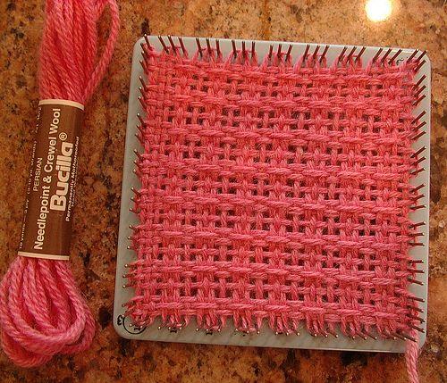 Weave-it loom windowpane lace