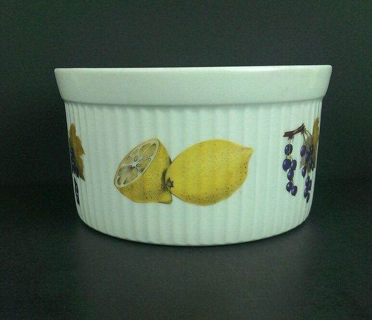 Celebrate your 4th anniversary with this fruit inspired Vintage Royal Worcester Evesham Souffle dish.  Discover more unique 4th anniversary gifts at www.yearsoflove.com