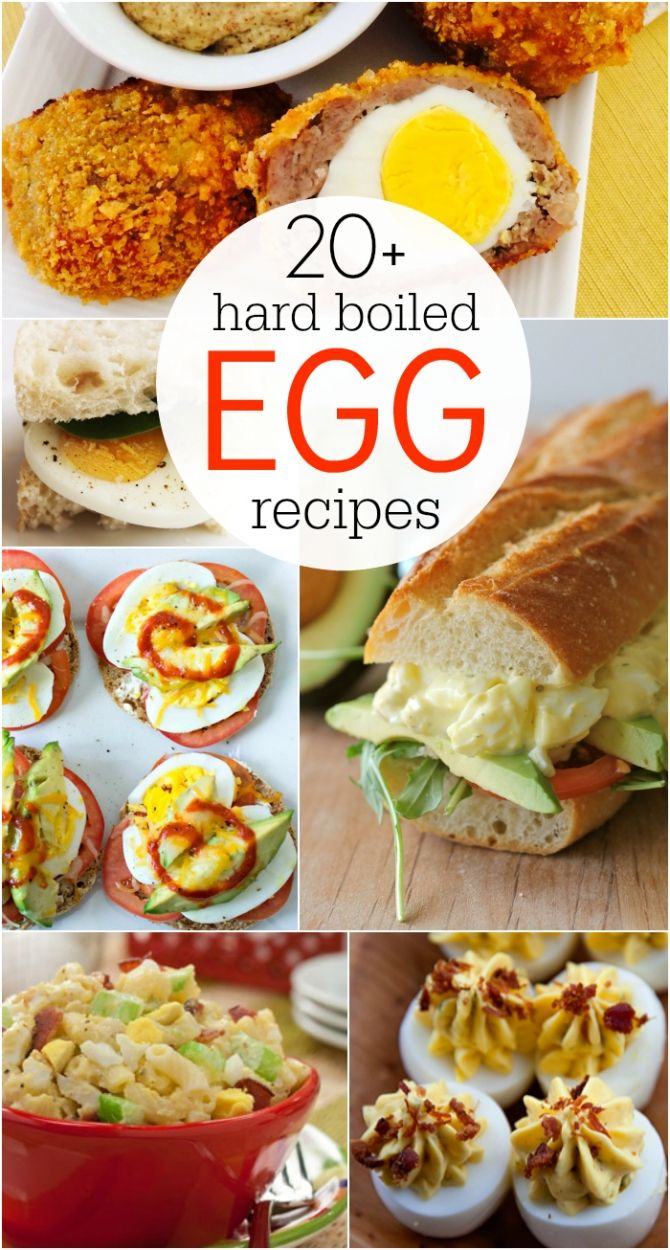 20+ hard boiled egg recipe ideas! Use up those leftover Easter eggs! Lots of great healthy dinner ideas, healthy lunch ideas and healthy snack ideas!