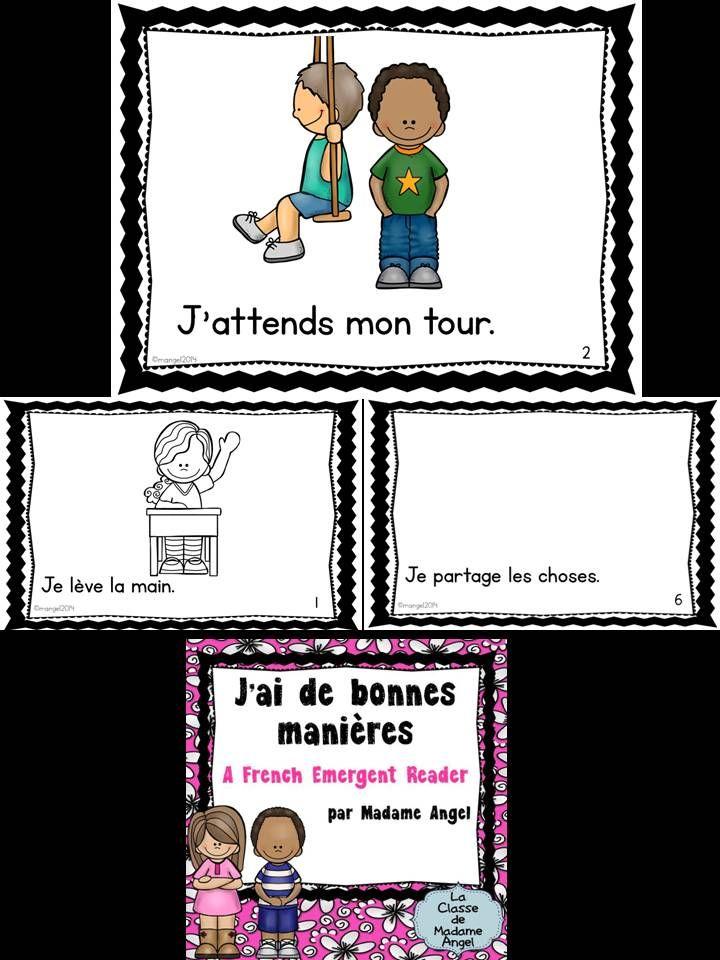 $ J'ai de bonnes manières.  A French Emergent Reader featuring teaching about good manners!