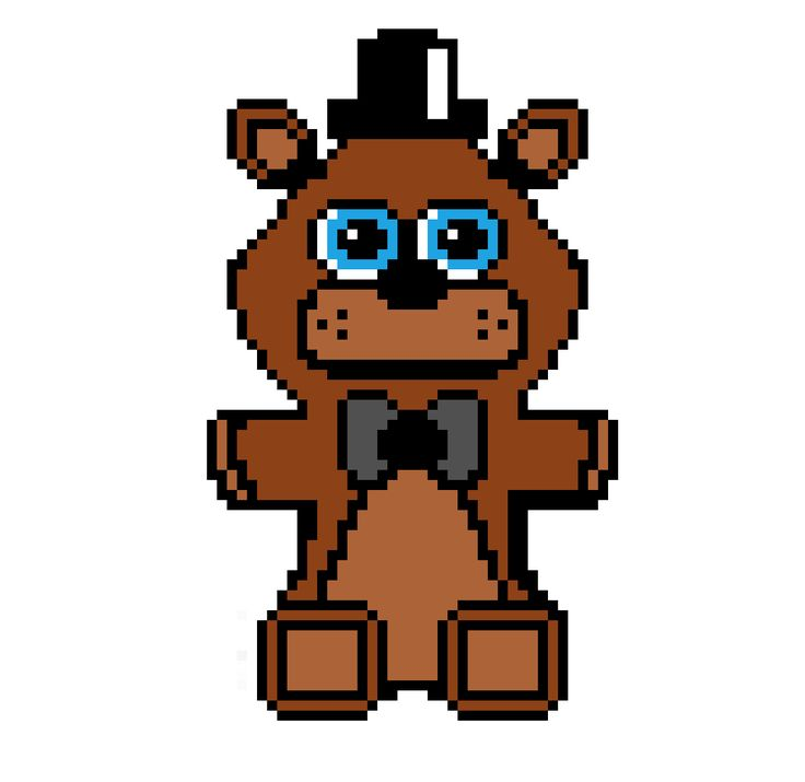 This is the Freddy plush this was my first attempt at doing pixel art so go easy on me. Also tell me in the comments what I should do next. https://i.redd.it/jrsd8yybspwx.png