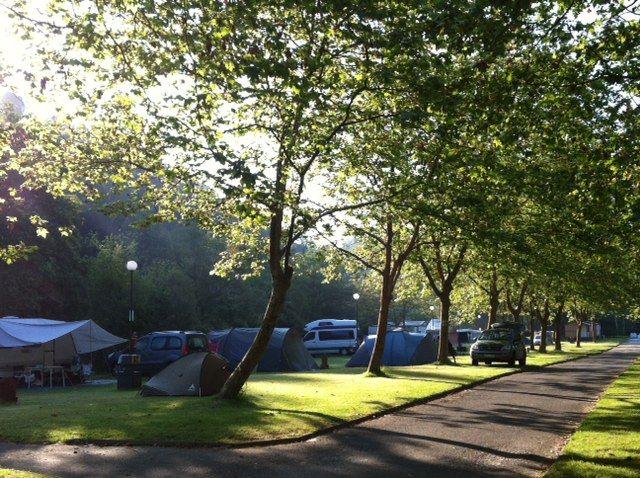 Aspecto del camping a principios de julio