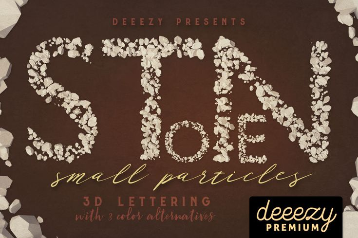 Stone Particles – 3D Lettering   Deeezy - Freebies with Extended License