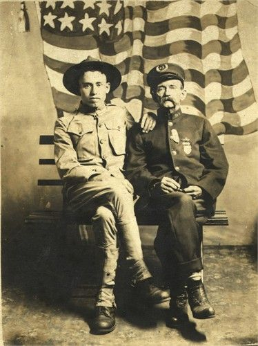 George Tanner, USA and Grandfather James Tanner, USN