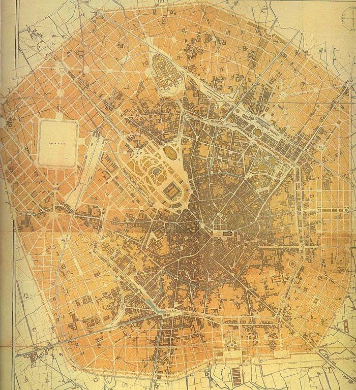MILANO | 1889 | Beruto, piano definitivo