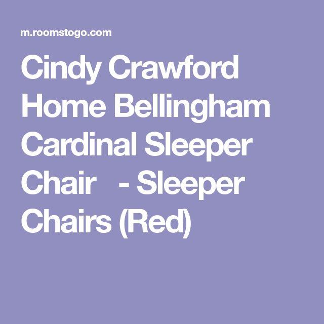 Cindy Crawford Home Bellingham Cardinal Sleeper Chair -Sleeper Chairs (Red)