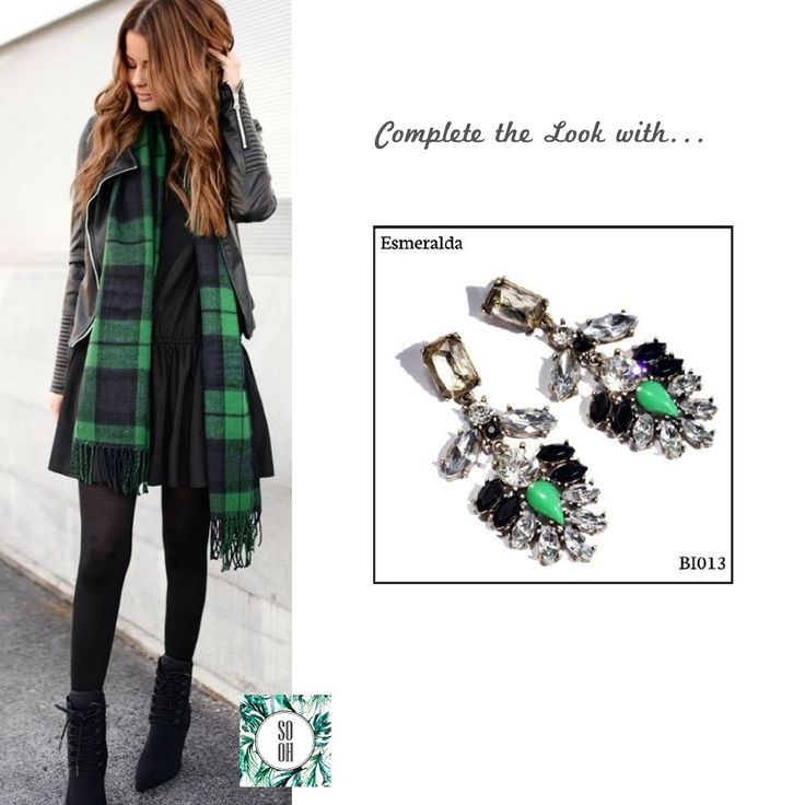 Ref: BI013 Esmeralda Medidas: 7.7 cm x 3 cm  So Oh: 9.99  #sooh_store #onlinestore #style #inspiration #styleinspiration #brincos #earrings #fashion #shoponline #aw2016 #aw1617 #winterstyle
