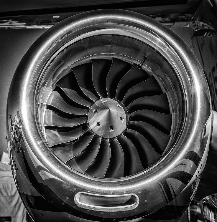 Jet Engine Turbine Blades B&W by Brent Clark on 500px