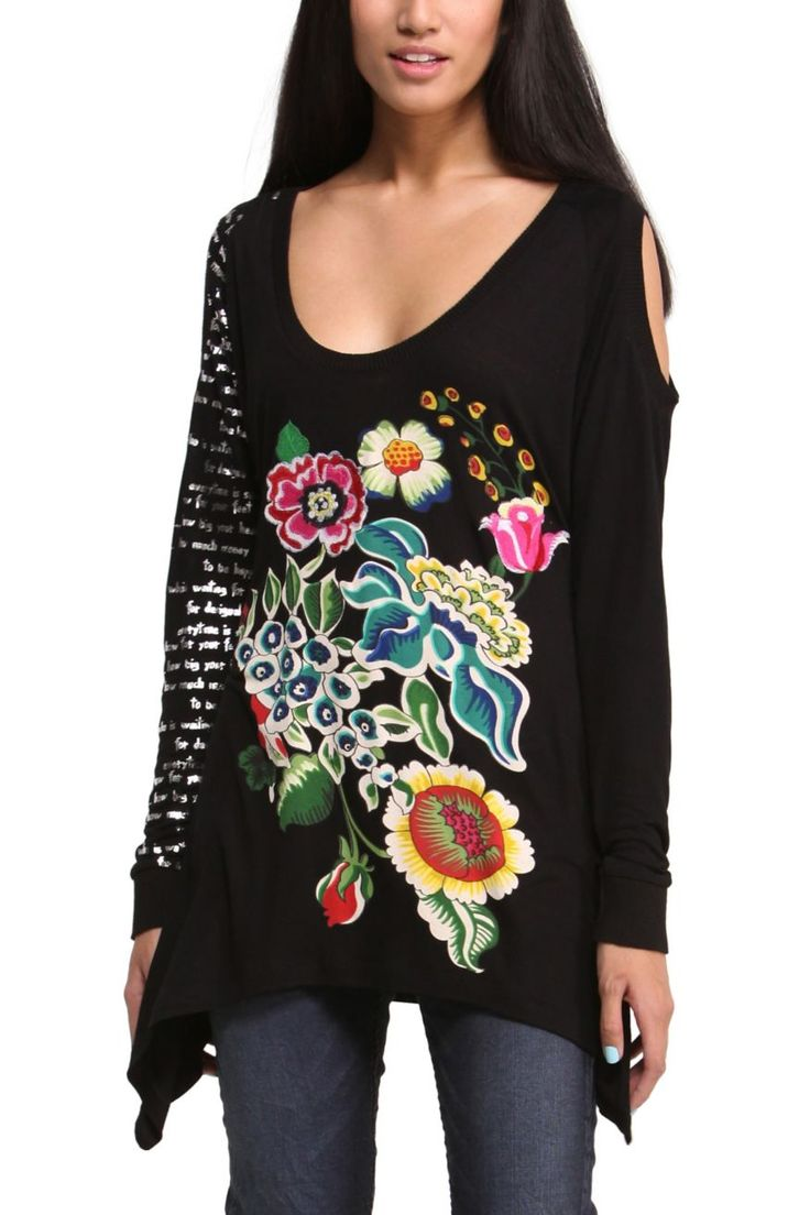 T-Shirt femme Desigual, craquez sur le T-Shirt Desigual Dakon prix promo Desigual 74.00 € TTC