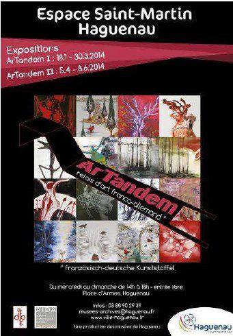 Exposition ArTandem, relais d'art franco-allemand. Du 18 janvier au 30 mars 2014 à Haguenau.