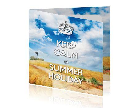 Retro zomer vakantiekaart