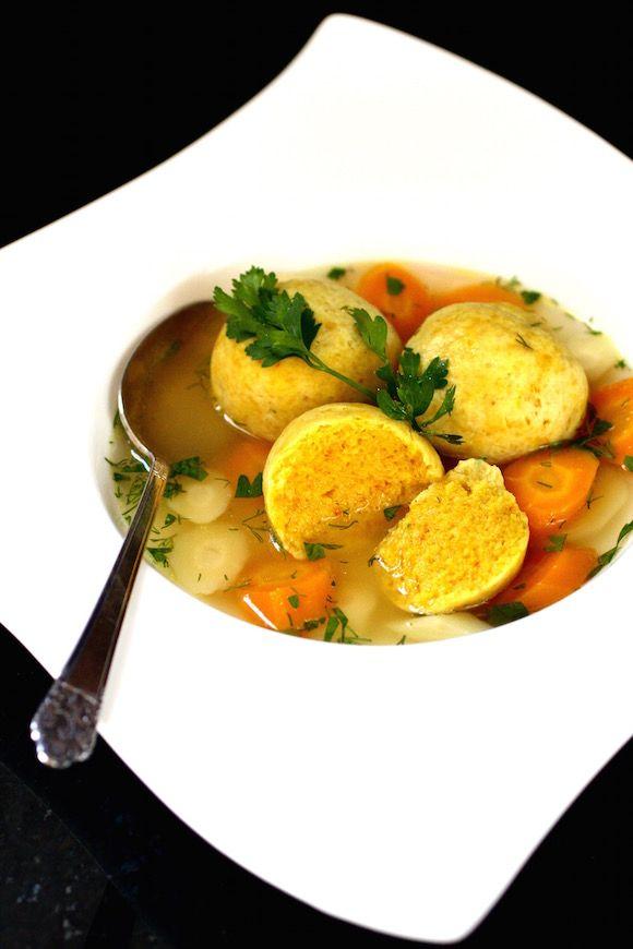 Chicken Soup with Exotic Saffron Matzoh Balls
