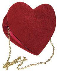 Velours rouge coeur sac - Alice au Pays des Merveilles Costumes