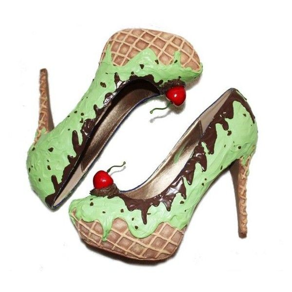 Mint Choc Chip Ice Cream heels ❤ liked on Polyvore featuring shoes, pumps, mint green shoes, cream pumps, cream shoes, mint green pumps and mint pumps