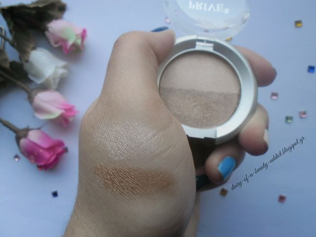 PRIVE Metallic Wet & Dry Eye-Shadow Duo Brown Sugar