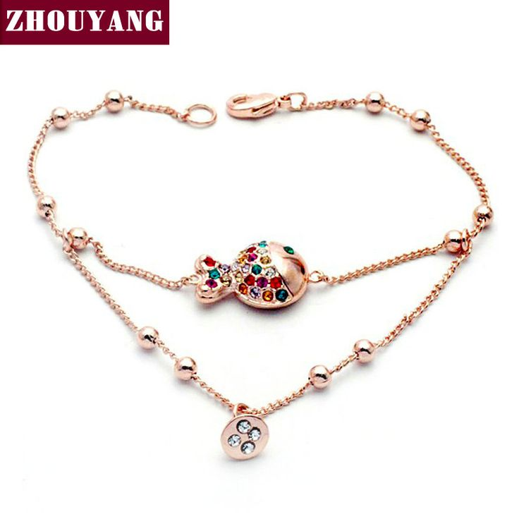 Top Quality ZYH008 Sex Fish  Rose Gold Plated Bracelet Jewelry   Austrian Crystal Wholesale