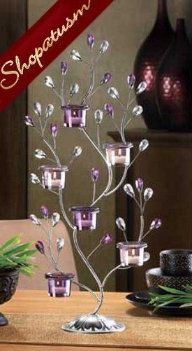 10 Large Candelabras Jewel Gems Centerpiece Tree Candle Holder